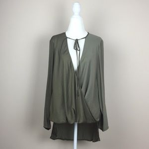 UO - Silence + Noise - Faux Wrap Twist Front Tunic